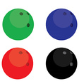 Bowling balls color vector image vector image