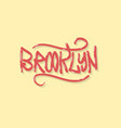 brooklyn new york usa label sign logo hand dra vector image vector image
