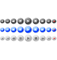 buttons control vector image