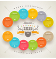 Calendar 2015 template with hipster style elements vector image vector image
