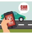 car insurance design vector image