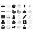 charity and donation blackoutline icons in set vector image