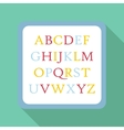 Children abc icon flat style vector image vector image
