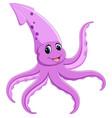 cute squid cartoon vector image vector image