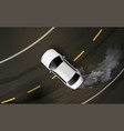 drifting car realistic composition vector image