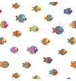 Fish Shoal Bright Cartoon Seamless Pattern vector image