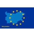 Flag of European Union with Bulgaria on background vector image vector image