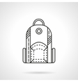 Flat line design backpack icon vector image vector image