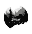 forest logo design nature landscape with vector image vector image