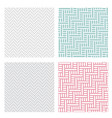 geometric weave puzzle pattern in four color vector image