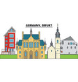 germany erfurt city skyline architecture vector image vector image