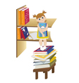 girl on a chair vector image vector image