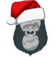 Head gorilla in a cap vector image vector image