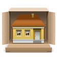 House in Carton Box vector image