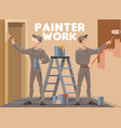 house room wall painting service work vector image vector image