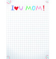 i love you mom isolated happy mothers day quote vector image vector image