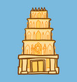 indian temple icon hand drawn style vector image