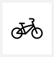 Kids bike icon vector image vector image