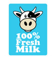 label and symbol for milk vector image