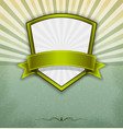 label badge with sunburst background vector image