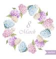 March 8 hydrangea wreath flowers3 vector image