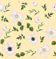 meadow flowers grass garden herbs vector image