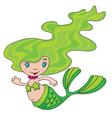 mermaid little vector image vector image
