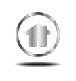 Metal Home Icon vector image