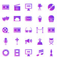 movie gradient icons on white background vector image