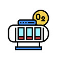 oxygen saturation chamber color icon vector image vector image