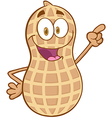 Peanut cartoon character holding a finger up vector | Price: 1 Credit (USD $1)