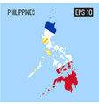 philippines map border with flag eps10 vector image