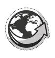 planet with arrows icon vector image