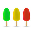 popsicle ice cream vector image vector image