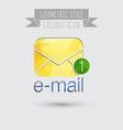 postal envelope e-mail symbol icon envelope vector image