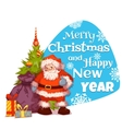 Santa Claus with pine and gifts Merry Christmas vector image vector image