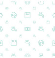 save icons pattern seamless white background vector image vector image
