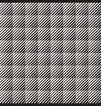 seamless black and white halftone lines pattern vector image vector image
