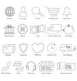 set e-commerce line icon editable stroke vector image vector image