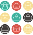 Set of colorful female handbags icons vector image vector image