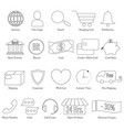set of e-commerce line icon editable stroke vector image vector image