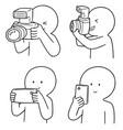 set of photographers vector image