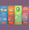 set of religion flat banners religions and vector image