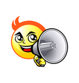 Shout out smiley vector image vector image