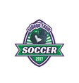 soccer college team football ball icon vector image vector image