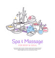 spa treatment massage salon poster background vector image vector image