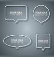 speech bubbles icon dialog box info grey vector image vector image