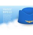 Stewardess hat of air hostess uniform vector image vector image