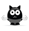 sweet and cute cat vector image vector image