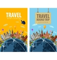 travel journey trip logo design template vector image vector image